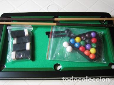 MINI BILLAR DE LUXE- JUEGO DE MESA- MUY BUEN ESTADO- (Juguetes - Juegos - Juegos de Mesa)