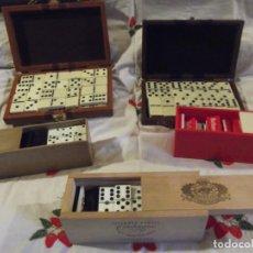 Juegos de mesa: COLECCIÓN DE DOMINÓS SON 5 (SOLO UNO USADO). Lote 240897320
