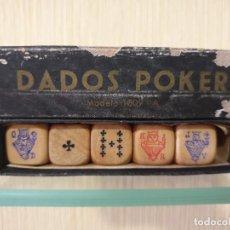 Juegos de mesa: DADOS PÓKER MADERA.. Lote 241270195