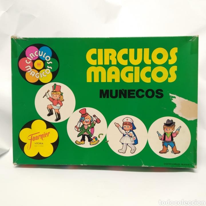 CÍRCULOS MÁGICOS, MUÑECOS, DE HERACLIO FOURNIER (VITORIA) AÑO 1974 DISEÑO CARLOS BUSQUETS, COMPLETO (Juguetes - Juegos - Juegos de Mesa)