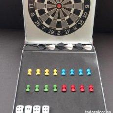 Juegos de mesa: SET CAJA ALUMINIO CON CONJUNTO JUEGOS VIAJE MAGNÉTICO DARDOS PARCHÍS DADOS. Lote 243010085