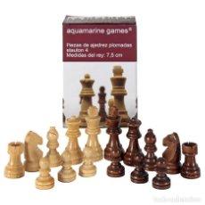 Juegos de mesa: CHESS. PIEZAS AJEDREZ STAUTON 4 TRAINER PLOMADAS DE MADERA 75MM. Lote 287713673