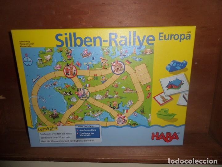 SILBEN RALLYE EUROPA RALLY DE SILABAS JUEGO DE MESA - DISPONGO DE MAS JUEGOS DE MESA (Juguetes - Juegos - Juegos de Mesa)