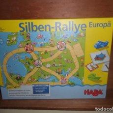 Juegos de mesa: SILBEN RALLYE EUROPA RALLY DE SILABAS JUEGO DE MESA - DISPONGO DE MAS JUEGOS DE MESA. Lote 243368360