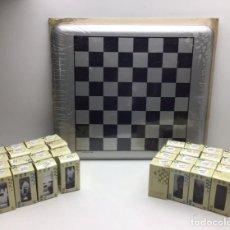 Juegos de mesa: JUEGO AJEDREZ - MARISCAL - FICHAS METALICAS Y TABLERO - SIN USO. Lote 243383100
