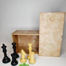 Juegos de mesa: AJEDREZ STAWTON N°3 ANTIGUO PROMOCIONAL DE RHODOGIL COMPLETO 32 PIEZAS AÑOS 60. Lote 244618900