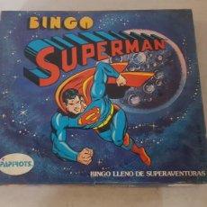 Juegos de mesa: JUEGO MESA BINGO DE SUPERMAN DC COMICS REF 8211 DE PAPIROTS. Lote 246191020