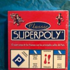 Juegos de mesa: JUEGO DE MESA SUPERPOLY CLASSIC (2006) DE FALOMIR JUEGOS.NUEVO Y PRECINTADO COMPLETO MONOPOLY. Lote 248036245
