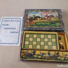Juegos de mesa: JUEGOS REUNIDOS HALMA CARRERAS DAMAS - JUGUETES BORRÁS. Lote 248050755