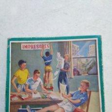 Juegos de mesa: IMPRESORES, JUEGO ANTIGUO DE IMPRENTA INFANTIL. Lote 248361605