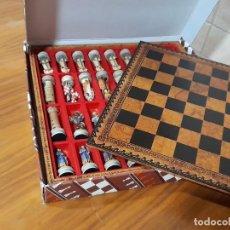 Jogos de mesa: AJEDREZ MOROS Y CRISTIANOS, FRIGURAS EN RESINA. Lote 252624870