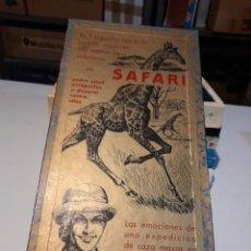 Juegos de mesa: SAFARI ( JUEGO DE MESA VINTAGE ) ORIGINAL DE EPOCA, 1953, JUEGOS CRONE. Lote 253574690