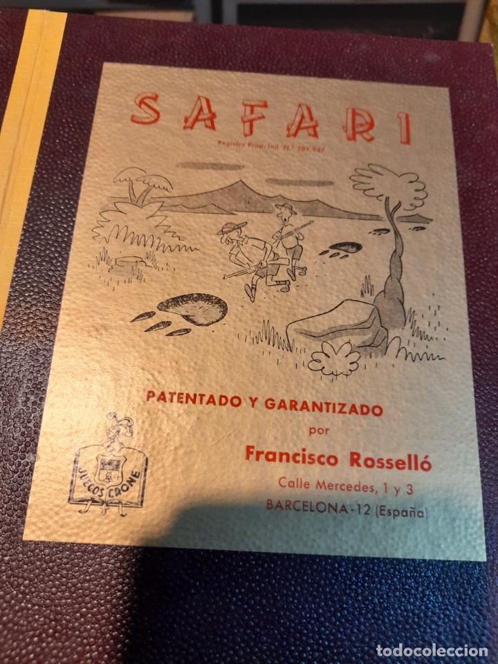 Juegos de mesa: SAFARI ( JUEGO DE MESA VINTAGE ) ORIGINAL DE EPOCA, 1953, JUEGOS CRONE - Foto 6 - 253574690