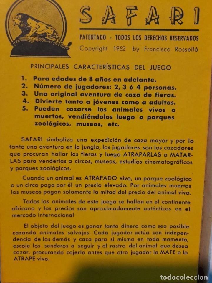 Juegos de mesa: SAFARI ( JUEGO DE MESA VINTAGE ) ORIGINAL DE EPOCA, 1953, JUEGOS CRONE - Foto 9 - 253574690