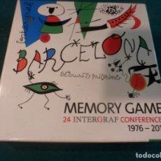 Juegos de mesa: MEMORY GAME - BARCELONA 24 INTERGRAF CONFERENCES 1976-2010 - JOAN MIRÓ. Lote 254325530