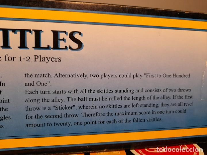 Juegos de mesa: SKITTLES VINTAGE GAME ( JUEGO DE BOLOS, PISTA BASE DE MADERA, BOLOS DE METAL ) BOWLING - Foto 7 - 254358385