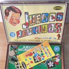 Juegos de mesa: JUEGOS REUNIDOS GEYPER 10 JUEGOS. COMPLETO. AÑOS 60. Lote 254719210