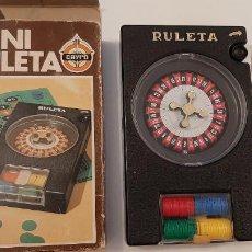 Juegos de mesa: ANTIGUO JUEGO JUGUETE MINI RULETA CAYRO DE MESA FICHAS APUESTA. Lote 257330170