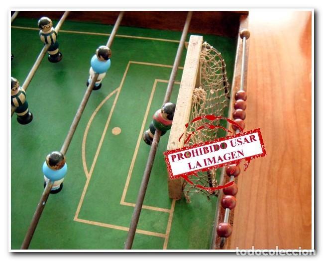 Juegos de mesa: FUTBOLÍN ORIGINAL AÑO 40-50 CELTA DE VIGO - DEPORTIVO DE LA CORUÑA - Foto 3 - 174308487