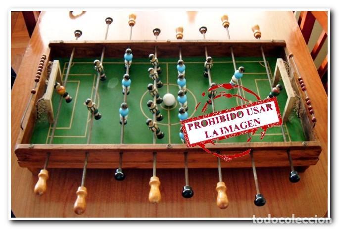 FUTBOLÍN ORIGINAL AÑO 40-50 CELTA DE VIGO - DEPORTIVO DE LA CORUÑA (Juguetes - Juegos - Juegos de Mesa)