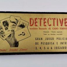 Juegos de mesa: JUEGO DE MESA DETECTIVES. EL CASO TODOOJOS. PATENTE FRANCISCO ROSELLÓ. AÑOS 50. COMPLETO. CRONE.. Lote 257797180