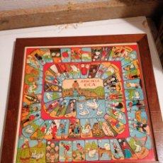 Juegos de mesa: ANTIGUO TABLERO JUEGO DE LA OCA Y PARCHÍS. Lote 257880645