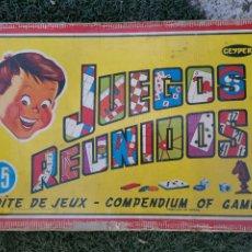 Juegos de mesa: JUEGO ANTIGUO JUEGOS REUNIDOS. Lote 257980990