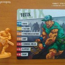 Juegos de mesa: ZOMBICIDE 2ND EDITION - FELIX - KICKSTARTER EXCLUSIVE - FIGURA + TARJETA (CE). Lote 279502048