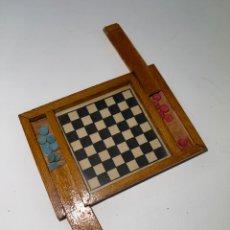 Juegos de mesa: MIN-444. JUEGO DE DAMAS MINIATURA DE MADERA. MEDIADOS S.XX.. Lote 261555205