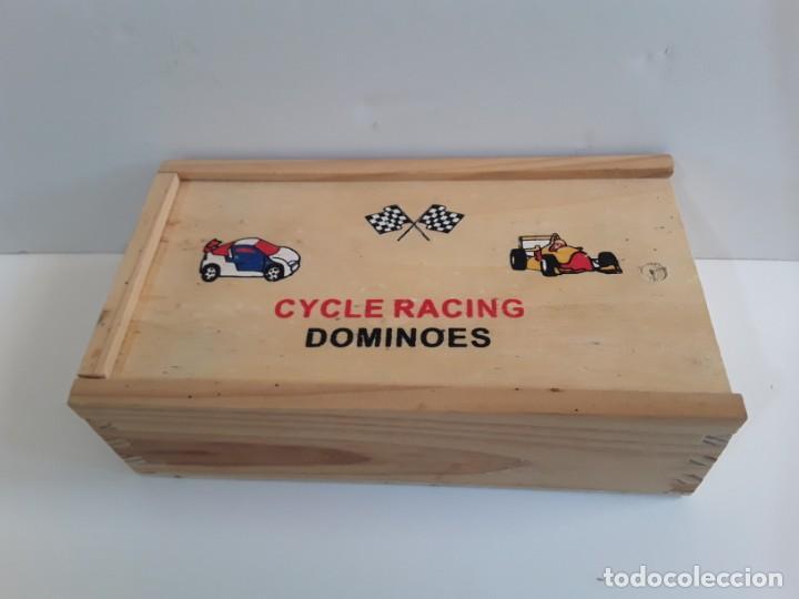 Juegos de mesa: Cycle Racing. Dominó en madera de carreras de automóvil - Foto 3 - 262220300