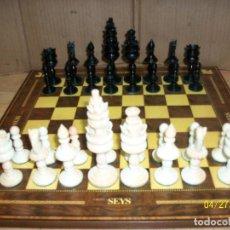 Juegos de mesa: ANTIGUO JUEGO DE AJEDREZ MARFIL. Lote 262408970