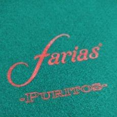 Juegos de mesa: TAPETE DE MESA PUBLICIDAD PURITOS FARIAS JUEGO DE CARTAS NAIPES PÓKER DADOS 50 X 50 NUEVO SIN USO. Lote 263049945