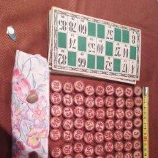 Juegos de mesa: JUEGO DE LOTERÍA AÑOS 60 CON 12 CARTONES. Lote 263590085
