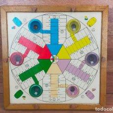 Juegos de mesa: PARCHÍS AUTOMÁTICO PARA 6 JUGADORES, MADERA, FUNCIONANDO BIEN. Lote 265433384