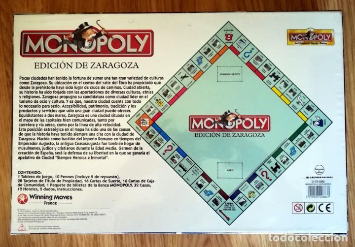 Juegos de mesa: MONOPOLY PRECINTADO EDICION DE ZARAGOZA 2005 FABRICADO EN IRLANDA DESCATALOGADO - Foto 4 - 266377103