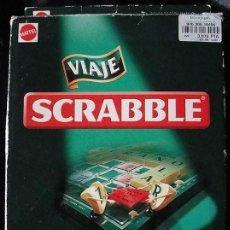 Juegos de mesa: SCRABBLE VIAJE - MATTEL 1999 - TABLERO PLEGABLE - CON TODAS LAS FICHAS -. Lote 266377938