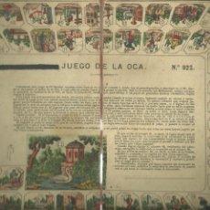 Juegos de mesa: 3837.- JUEGO DE LA OCA - ANTIGUO JUEGO DE LA OCA-PRINCIPIOS DE SIGLO XX. Lote 267788479
