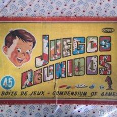 Juegos de mesa: JUEGOS REUNIDOS GEYPER 45 INCOMPLETO CON MANUAL DE INSTRUCCIONES ORIGINAL. Lote 268431599