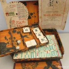 Juegos de mesa: MAH JONGG DE BORRAS AÑOS 20. Lote 268434009