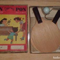 Juegos de mesa: PRECIOSO JUEGO DE PIN - PONG, COMPLETO, AÑOS 40. Lote 268767844