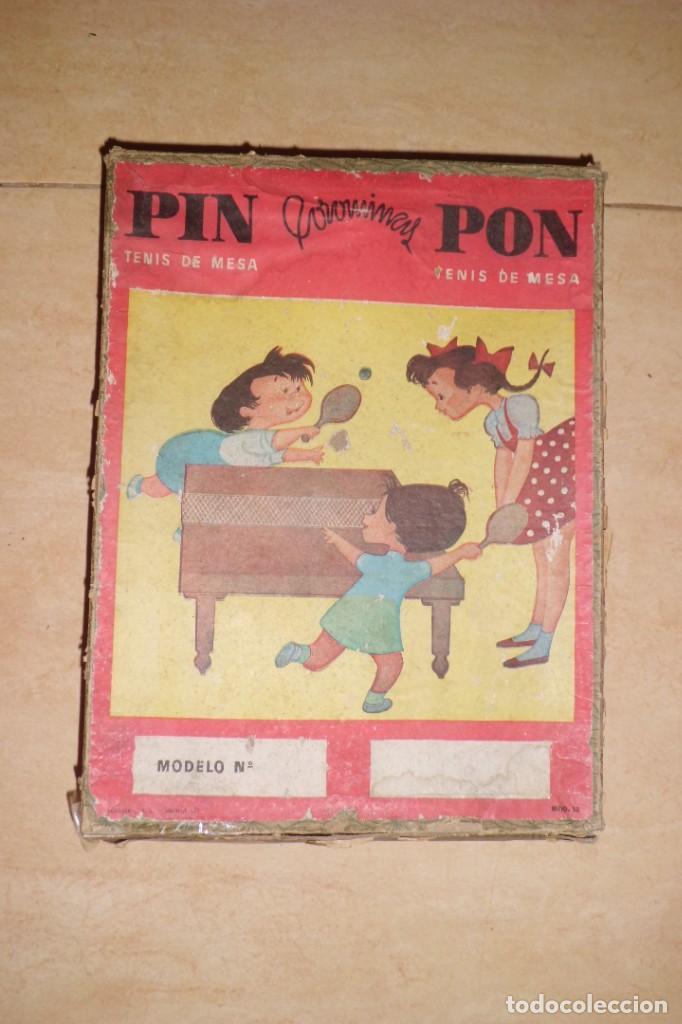 Juegos de mesa: PRECIOSO JUEGO DE PIN - PONG, COMPLETO, AÑOS 40 - Foto 2 - 268767844