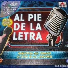 Juegos de mesa: AL PIE DE LA LETRA - ANTENA 3 - BORRAS ¡COMPLETO!. Lote 268956439