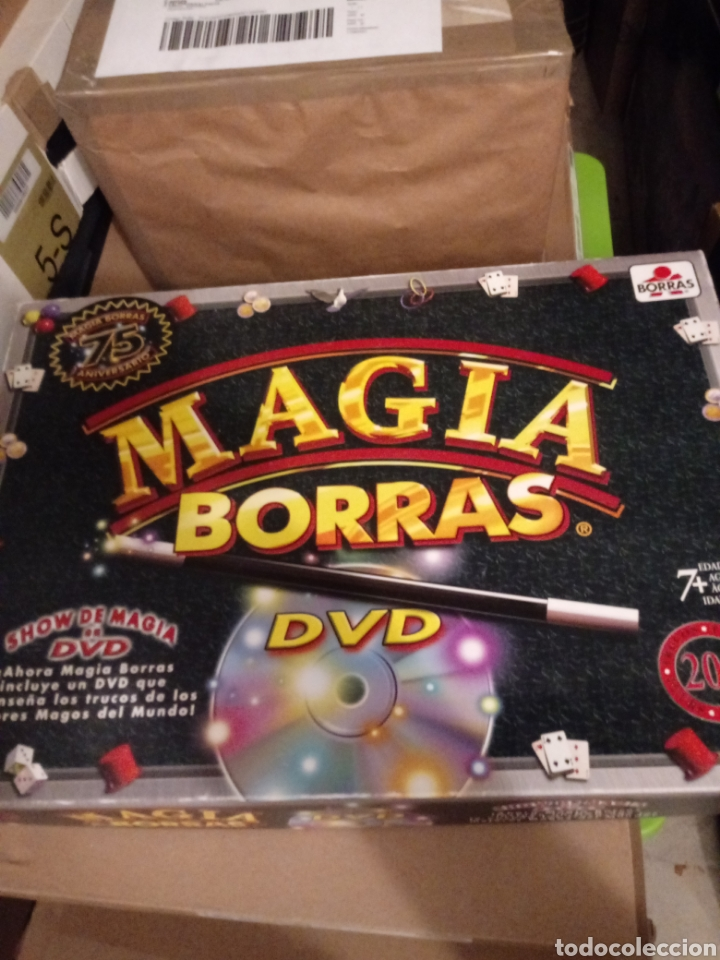 CAJA ORIGINAL EL 75 ANIV DE MAGIA BORRAS.INCOMPLETA ,CON DVD. (Juguetes - Juegos - Juegos de Mesa)