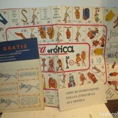 Juegos de mesa: JUEGO DE LA OCA EROTICA. AÑO 1978 DE JUEGOS RECREATIVOS.COMPLETA SIN ESTRENAR. Lote 270402108