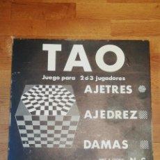 Juegos de mesa: TAO AJETRES AJEDREZ DAMAS NIKE & COOPER NUEVO A ESTRENAR. Lote 270859608