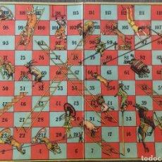 Juegos de mesa: ANTIGUO TABLERO DEL JUEGO DE LA ESCALERA. Lote 271998603