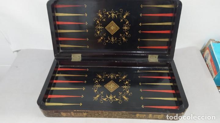Juegos de mesa: Ajedrez con tablero de laca china y piezas de marfil tallado, finales XIX - Foto 22 - 272649213