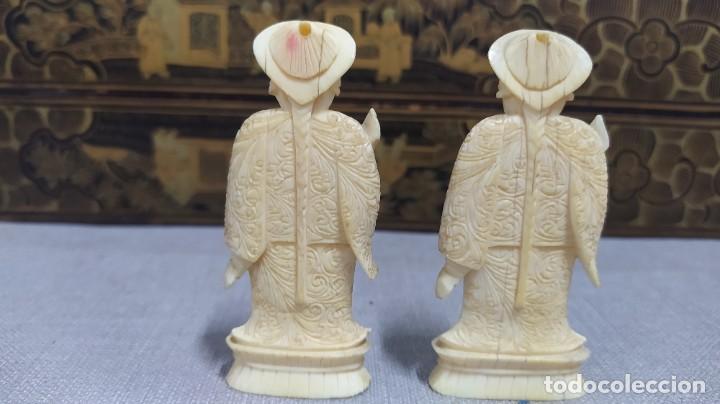 Juegos de mesa: Ajedrez con tablero de laca china y piezas de marfil tallado, finales XIX - Foto 44 - 272649213