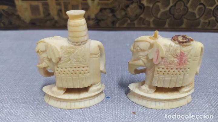 Juegos de mesa: Ajedrez con tablero de laca china y piezas de marfil tallado, finales XIX - Foto 46 - 272649213