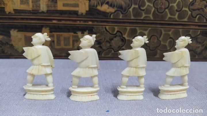 Juegos de mesa: Ajedrez con tablero de laca china y piezas de marfil tallado, finales XIX - Foto 52 - 272649213